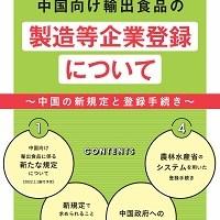 中国向け輸出食品の製造等企業登録についてリーフレットの表紙