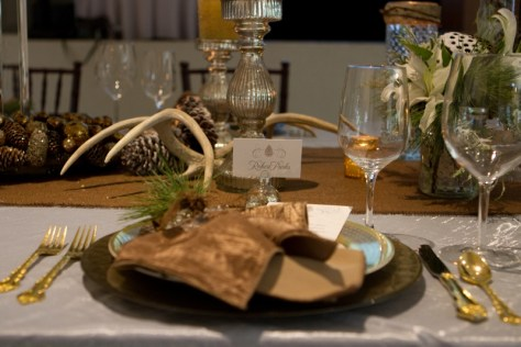 Smoke color charges and fabulous dinnerware from Music City Tents, placecards from Designs in Paper really made the table a WOW!