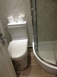 Image of tiny and inaccessible shower room
