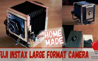 Home made Fuji Instax large format camera