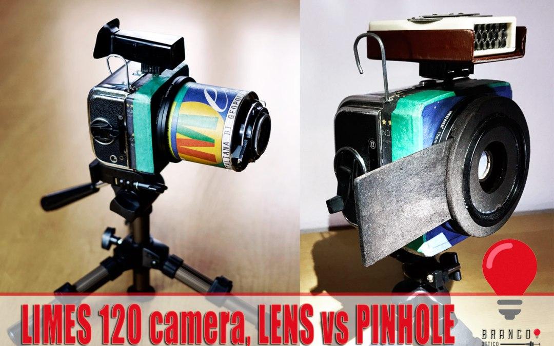 LIMES 120 camera, lens vs pinhole