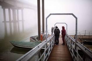 si fotografa sul pontile