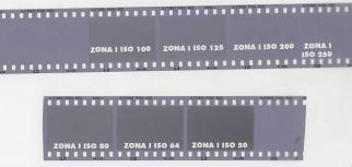 ILFORD PAN 100 Il test della ZONA I mostra le densità minime alle diverse sensibilità