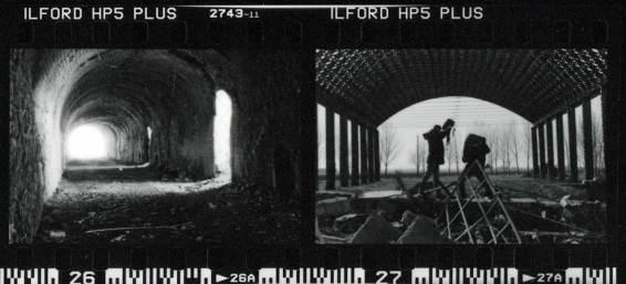 il provino della pellicola sviluppata in N-1
