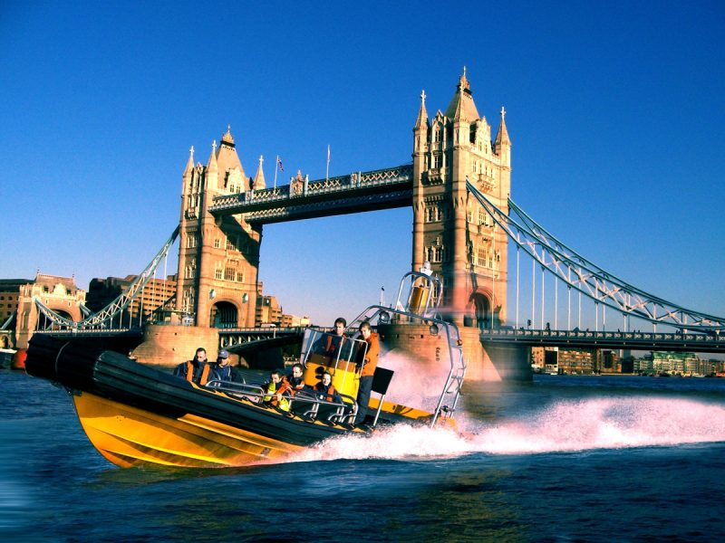 Speedboat on the thames