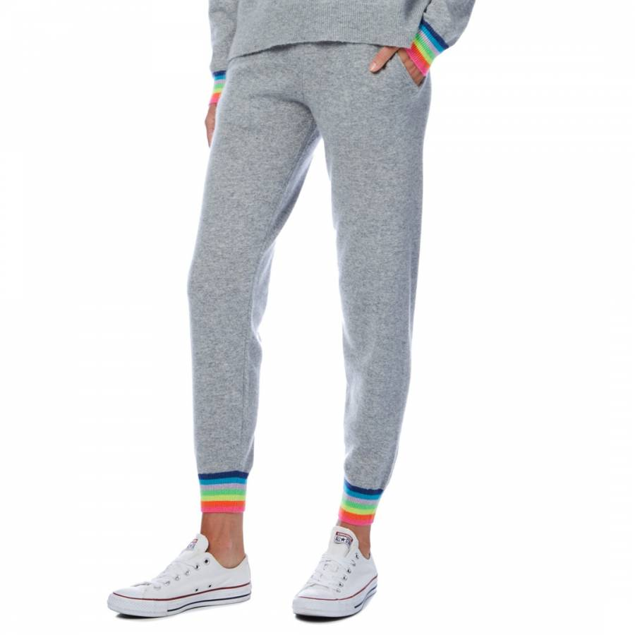 Cashmere gifts Grey Rainbow Cuff Cashmere Jogger