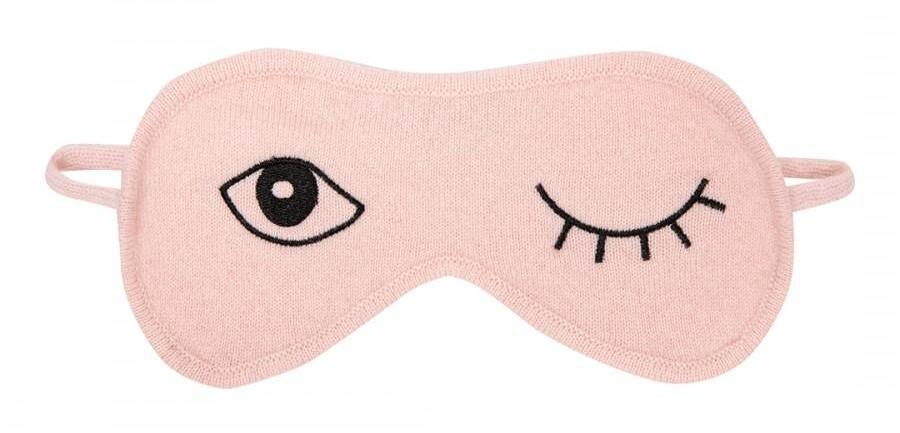 Pale Pink Wink Eye Mask cashmere gift