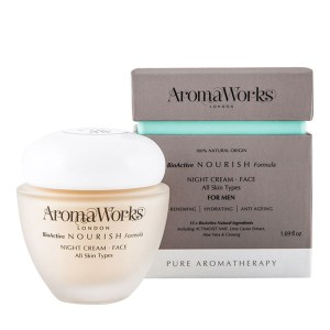 Aroma Works Mens Nourish Night Cream Christmas gifts