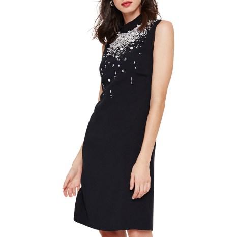 Black Saskia Beaded Dress Damsel in a Dress Christmas party outfits