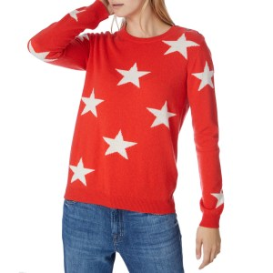 Zoom Scott & Scott London Red Solid Star Cashmere Jumper SCOTT & SCOTT LONDON Red Solid Star Cashmere Jumper