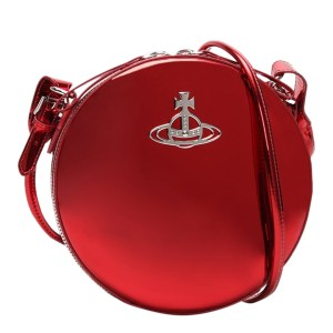Red Johanna Round Crossbody Bag, Galentine's Day