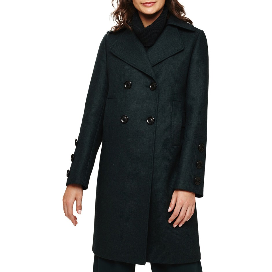 Phase Eight Dark Green Betsie Coat