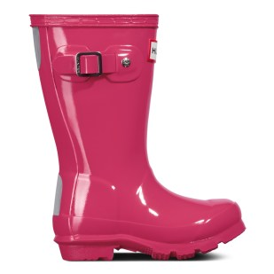 Kids Kids Red Original Gloss Pink Wellies
