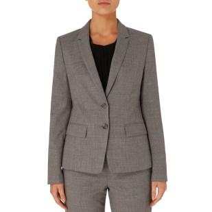BOSS Grey Jewisa Wool Stretch Suit Jacket