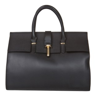 Markese Black leather top handle bag