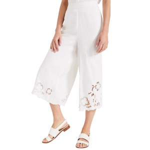 PHASE EIGHT Ivory Cemile Linen Trousers