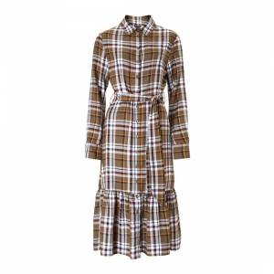 autumn fashion trends checked baukjen dress