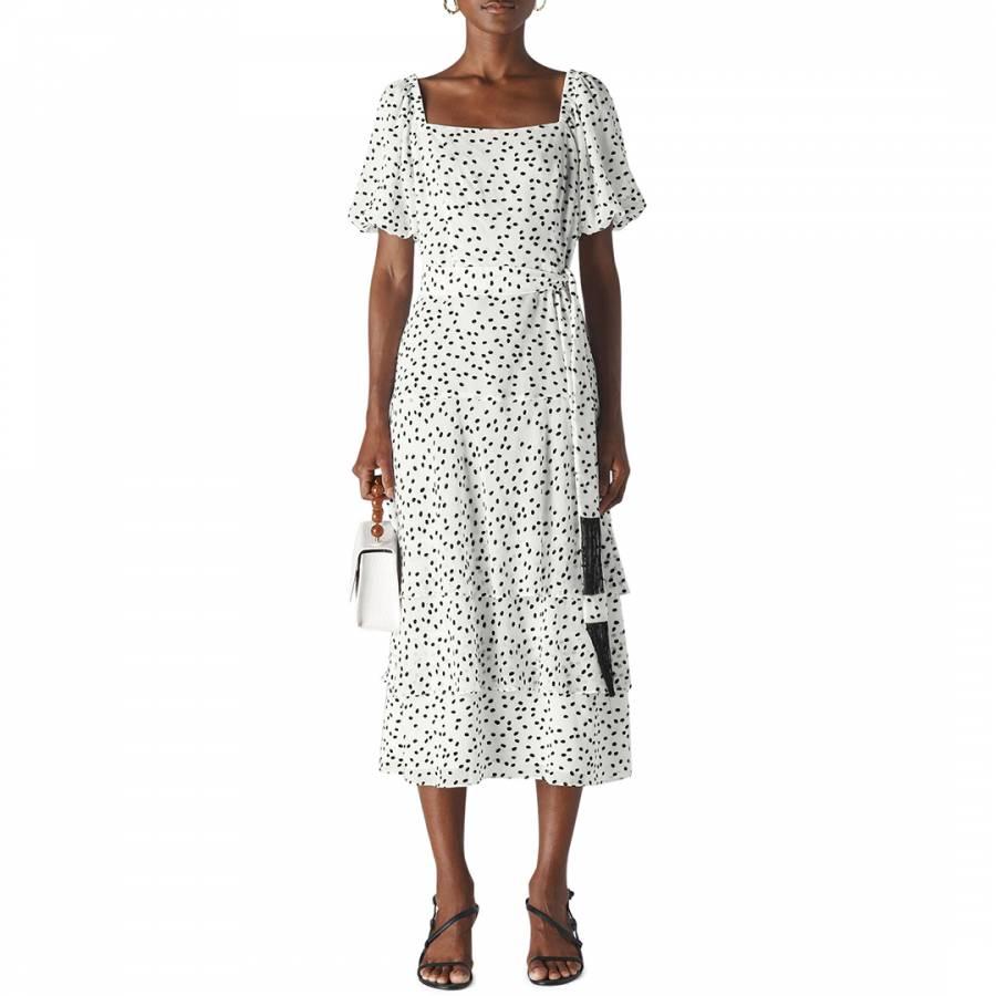 Whistles White/Black Viola Dress