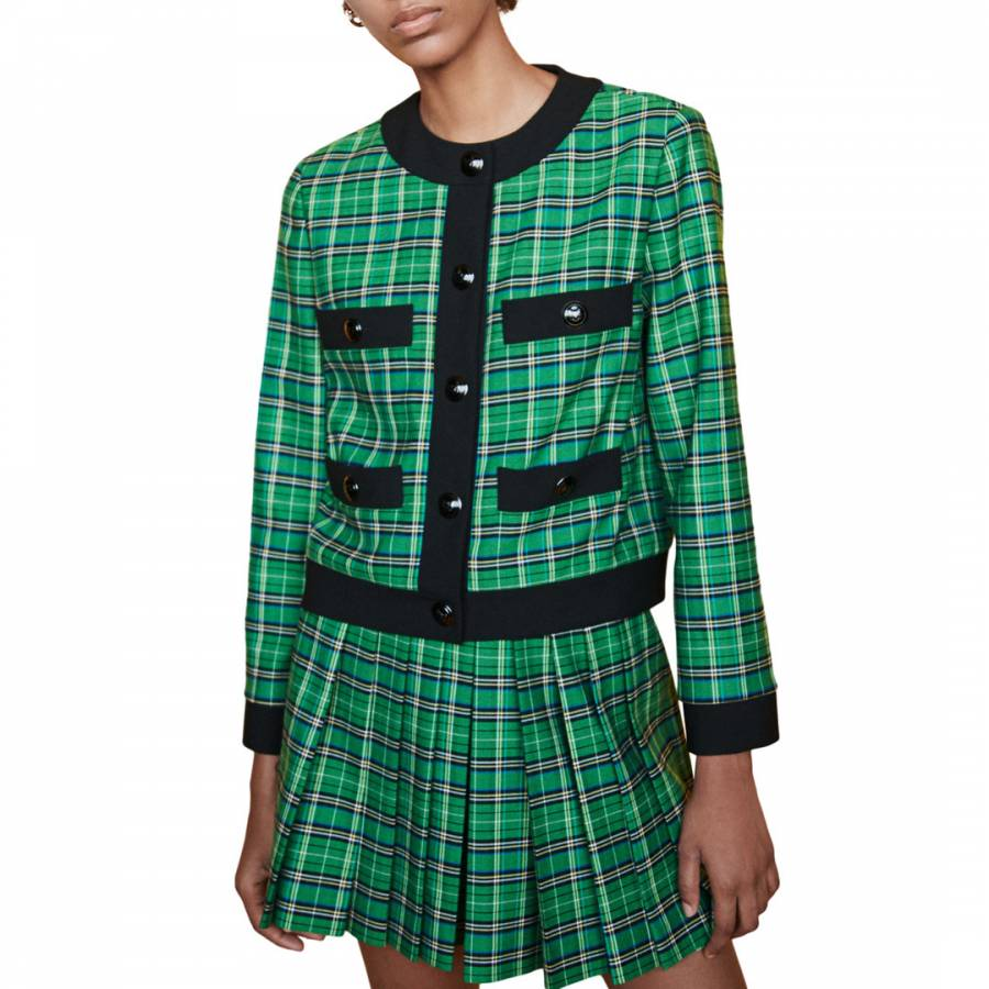 Maje Green Vivert Fitted Blazer & Skort