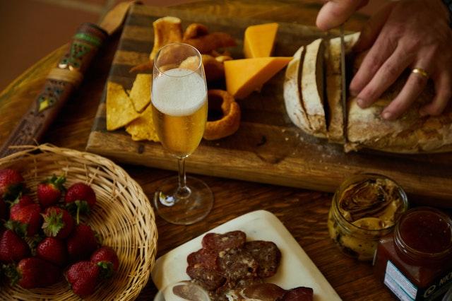 cheese board champagne cheeseboard