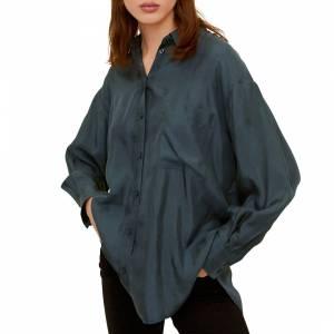knitted sweatpants Mango Green Pocket Cupro Shirt - £22