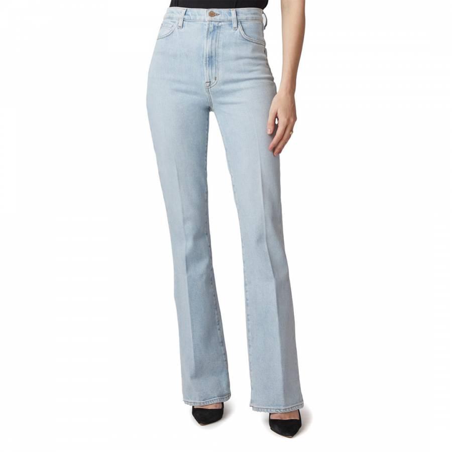 denim jeans Pale Blue 1219 Runway Flared Stretch Jeans