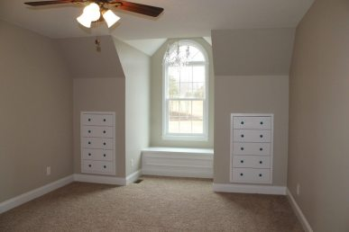 Custom Home Knox Tn Built in window seat and drawers
