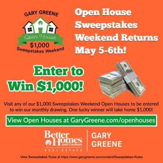 May 5th & 6th   1,000 Open House Sweepstakes   Tools and Materials