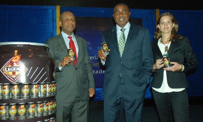 R-L: Marketing Manager, Alcoholic Drinks, Mr. Tony Agenmonmen; Sales Director, Mr. Hubert Eze and Senior Brand Manager, Henieken, Jacqueline Van Faassen, all of Nigerian Breweries at the regional launch of Henieken Magnum in Port Harcourt....recently