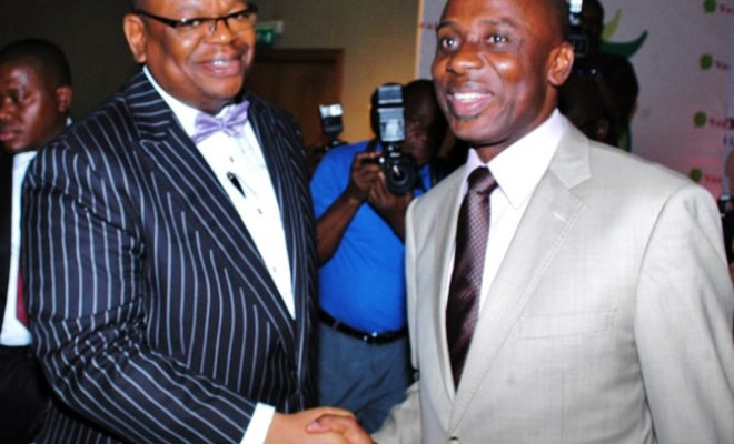Tunji Olugbodi, CEO, Verdant Zeal Communications and Rivers State governor, Rt. Hon. Rotimi Amaechi at the Verdant Zeal Innovention lecture