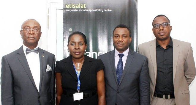 L-R: Manager, Etisalat CSR Center, Lagos Business School (LBS), Sir, Chris Ogbechie; Head Africa Corporate Governance Programme, International Financial Corporation (IFC), Mrs. Almona Chinyere; Director, Sustainable Business Initiative, University of Edinburgh, Professor, Mr.kenneth Amaeshi and Manager, Corporate Social Responsibility, Etisalat Nigeria, Mr. Ismail Omamegbe during an Etisalat-sponsored seminar on Implementing Sustainable Business Principles, which held at the Lagos Business School, Lekki, Epe Expressway