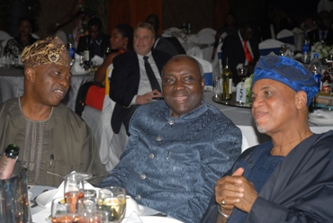 Committee Member, Police Affairs, Senator Akin Odunsi; Former Inspector General of Police, Alhaji Musiliu Smith and Chairman, Troyka Group, Biodun Shobanjo