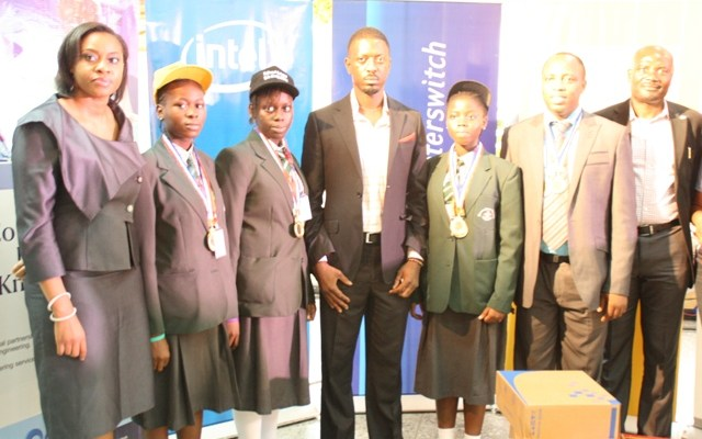 Interswitch Nigeria Limited , Head Marketing and Communication, Mrs Enyioma Anaba, Doregos Private Academy Student, Ms. Duro - Aina Adebola,Ms. Bello Eniola, , Intel Corporation, Head Corporate affairs, Mr. Osagie Ogunbor, Doregos Private Academy Student ,Winners of the 9th National Festival of Schools Science Best Project,Ms. Faleke Oluwatoyin, Doregos Private Academy Teacher, Mr. Lawal Olaide and Shell Petroleum, Head Social Performance, Mr. Emmanuel Anyim