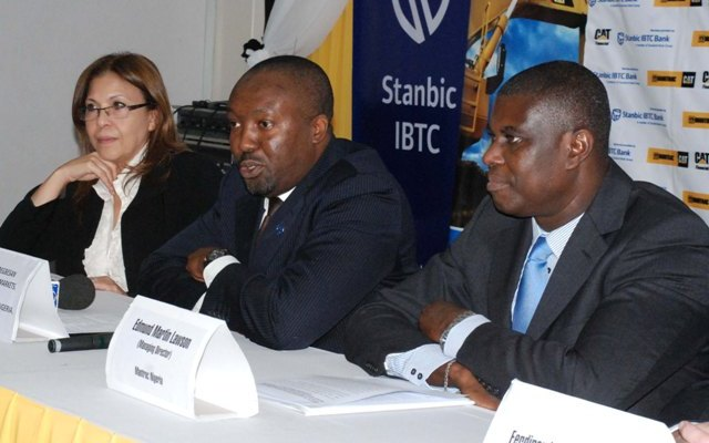 Trade Finance Manager, Mantrac Group, Ms. Neimat El Magraby; Head, Global Markets, Stanbic IBTC Bank, Mr. Sola Adegbesan and Managing Director, Mantrac Nigeria, Mr. Edmund Martin Lawson
