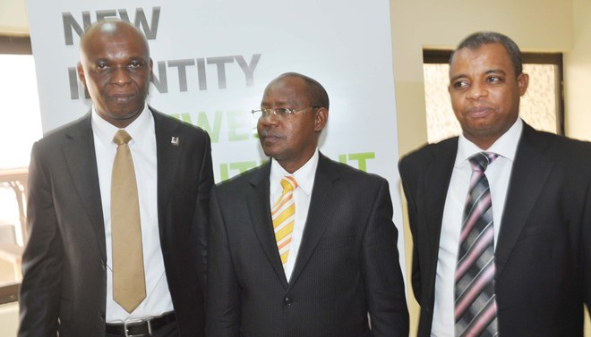 L-R, Head, MSME Diamond Bank Plc, Mr Chima Nnadozie; MD/CEO, First Investment Options Ltd, Dr Abdu Abubakar and Regional Manager, Diamond Bank Plc, Abuja, Abubakar Suleiman at the Diamond Bank Plc 27thBusinessXpress Enterprise Series held in Abuja recently.