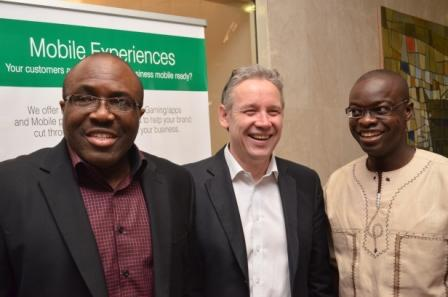 Idorenyen Enang; global trainer on digital marketing, Mike Berry and Princewill Omorogiuwa, CEO of the business school