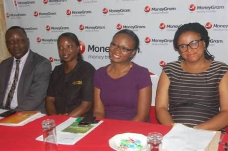 (L-R) Managing Director, RedlinePR, Lekan Ishola; Vetting Officer, APCON, Tosin Ogunware; Business Development Manager MoneyGram AWA, Kemi Okusanya and Planning, Research & Statistics Officer, CPC, Nwamuo Ifeyinwa at the 2013 MoneyGram Gear Up for School Promo Draw in Lagos