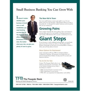 TFB in Warrenton VA Small Business Banking brochure
