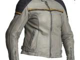Halvarssons Eagle Lady Leather Motorcycle Jacket Black Grey