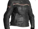Halvarssons Eagle Lady Leather Motorcycle Jacket Black Red