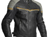 Halvarssons Eagle Leather Motorcycle Jacket Black Grey