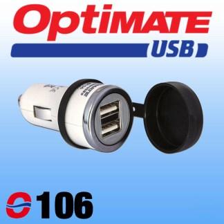O106 Optimate Cigarette Plug to USB Charger