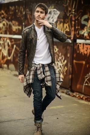 plaid shirt autumn styling