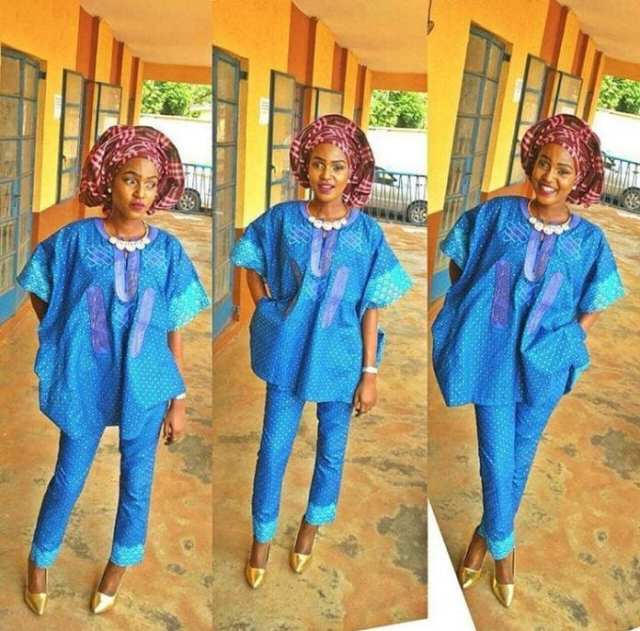 Agbadas-Costumes-with-a-Gele Agbada Outfits for Women - 20 Ways to Wear Agbada in Style