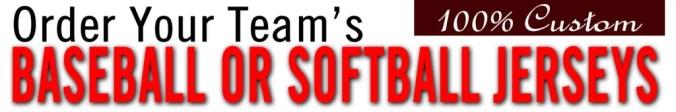 Baseball Jersey Softball Jersey Custom Order Form