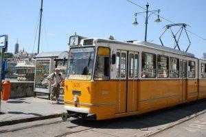 Raitiovaunu Budapestissa.