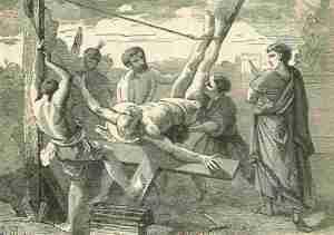 Pietarin marttyyrikuolema.