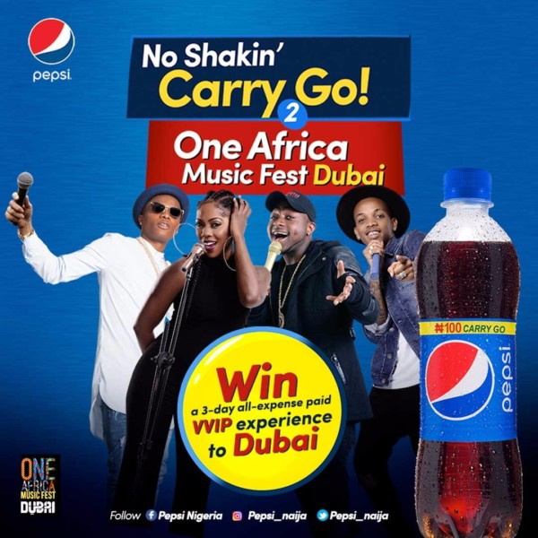 #NoShakingCarryGo! Pepsi Rewards 10 lucky Fans with 3-day VVIP Experience to One Africa Music Fest in Dubai - Brand Spur