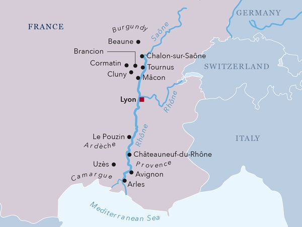 Rhone River Map Rhone River Map   Brand g Vacations