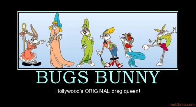 Bugs Bunny in Drag Cartoon Characters in drag